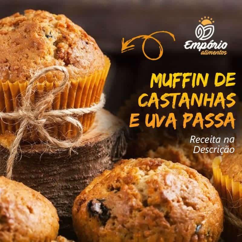 Muffin com castanhas e passas