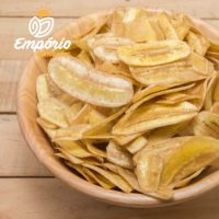 Chips de banana assada